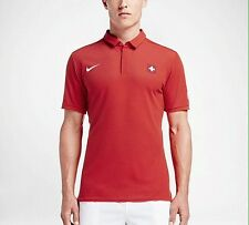 NIKE ROGER FEDERER SWITZERLAND SWISS SUISSE POLO SIZE L RF + GIFT