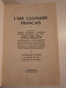Ancien grand livre de cuisine L'ART culinaire français  Flammarion  1950 Superbe