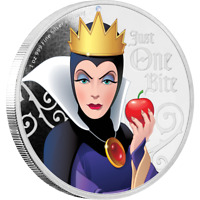 2018 Niue Disney Villains Snow White Evil Queen 1 oz Silver Proof Coin - IN BOX