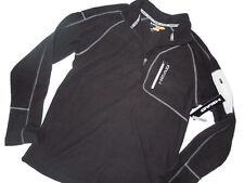 HEAD black SWEATSHIRT 1/4 zip Fleece Pullover Black Small S