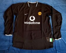 BNWT Manchester United 2003-2005 Away Player Issue Long Sleeve Shirt XL