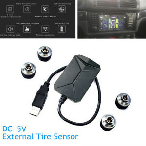 Car Tire Pressure Monitoring System 4 Sensors Temperature Alarm For Android DVD