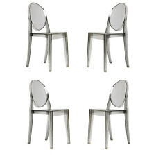 Casper Zuo Side Chair in Smoke Dining Table Chairs Set of FOUR