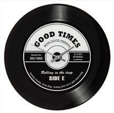 Retro Record Good Times Quartz Wall Clock 34cm x 34cm