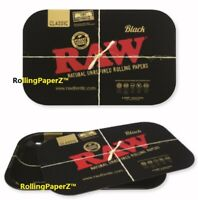 RAW Papers BLACK Magnetic ROLLING TRAY COVER + RAW BLACK TRAY - you get Both!
