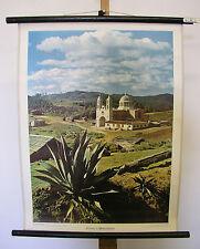 Belles anciennes écoles carte photo église de moyens Mexique 55x72cm VINTAGE MAP ~ 1960