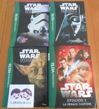 Lot 4 livres LA BIBLIOTHEQUE VERTE STAR WARS EPISODE I  IV V VI Roman du film