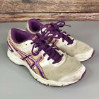 ASICS Gel- Galaxy 8 Womens White Purple Running Gym Trainers Shoes Size 38 UK 5