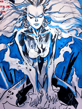 BLANK VARIANT SKETCH COVER, Comic ORIGINAL ART Ken LASHLEY, SUPERMAN, not CGC NM