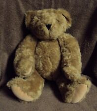 "15"" Authentic Jointed Vermont Teddy Bear Plush Toy Honey Brown Born March 2010"