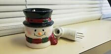Scentsy Bluster Plug In Warmer Snowman Retired