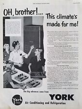 1951 York air conditioning Refrigeration this climate is made for me ad