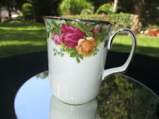 """A OLD COUNTRY ROSES ROYAL ALBERT  COFFEE MUG CUP 3.75"""" TALL A1 CONDITION"""