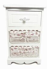 Assembled 3 Chest of Drawers White Hallway Bedside Storage Unit Cabinet