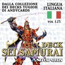Yu-Gi-Oh! Mazzo SEI / SIX SAMURAI Pronto da Giocare ☻ Deck 125 YUGIOH ANDYCARDS