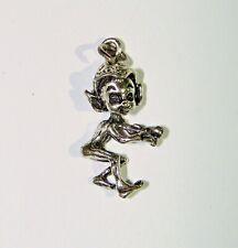 Elf Pixie Charm Pendant Vintage Sterling Silver Sneeky