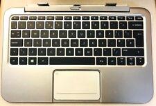 Genuine HP Envy X2 11G Silver Palmrest Trackpad Keyboard 694497-031