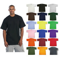 PRO CLUB MEN'S BLANK SOLID HEAVY WEIGHT SHORT SLEEVE T-SHIRT PRO CLUB TEE S-7XL