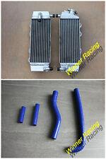 Fit Yamaha YZ250F 2001-2005 / WR250F 2001-2006 Aluminum radiator & Hose Blue
