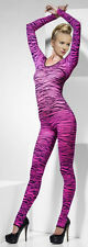 Pink Zebra Print Sexy Catsuit Bodystocking Bodysuit (Fancy Dress Costume) 33869