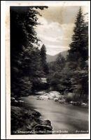 Schwarzatal Thüringen alte Postkarte ~1935/40 Steinerne Brücke ungelaufen