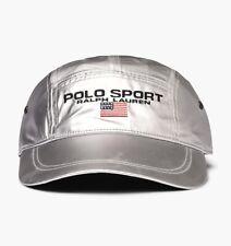 Polo Sport Ralph Lauren Metallic Silver Hat Long Bill Cap Limited Edition Adjust