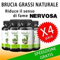 Integratore Alimentare per Dimagrire Alga Spirulina Maxi 500mg Naturale 4x1