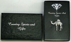 Dromedary Arabian Camel Lapel Pin Badge Brooch Gift Box One Hump Pewter