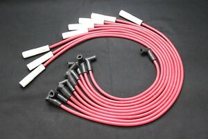 MAXX 549CR 8.5mm Ceramic Boot Spark Plug Wires Ford 351C 351M 400 429 460 V8 HEI