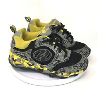 Heelys Kids Black Yellow Skate Roller Wheels Shoes Youth Size 1 Low Top Lace Up