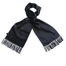 Tootal Vintage Negro Lunares 100% Seda con Flecos Bufanda Mod