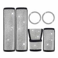 Seat Belt Cover Crystal Diamonds Handbrake Bling Shift Gear Knob Cover Duable