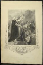 Antique Print THE WALLING OF NEW ROSS Ireland Engraving 1851 Warren Greathach