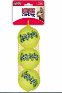KONG SqueakAir Tennis Balls Dog Toy XSmall,Small,Medium,Large Squeaky Fetch Play