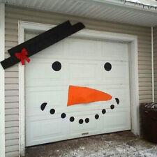 DIY Christmas Snowman Outdoor Decoration Garage Gate Door Elk Bow Hat B 2-
