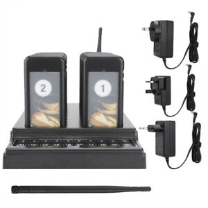 Restaurant Wireless Guest Paging Calling Queuing System Transmitter 20Pcs Pagers