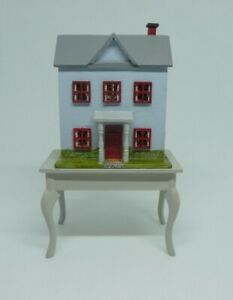 Beautiful Laura Eppich 1:144 Scale Miniature David Krupick House on Table