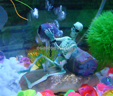 Fish Tank Aquarium Skeleton on Wheel Action-Air Aquariums Ornament Landscape