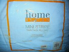"""Macy's Twin Two Pack Bed Pillows Home Design Standard 20""""x26"""" Hypoallergenic"""
