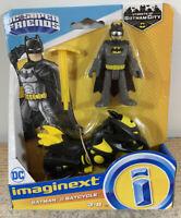 Imaginext DC Super Friend Fisher Price Justice League Batman & Batcycle