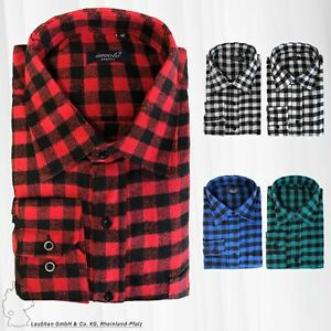 Herren Hemd Kariertes Flanell Holzfällerhemd Freizeithemd Retro Vintage Cotton