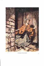 Genuine antique print.1939.Arthur Rackham.Peer Gynt.Original print.Costume