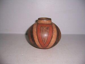 "Pre-Columbian Parita Panama Cocle Pottery Polychrome Jar 4 1/4"" x 3 1/2"""