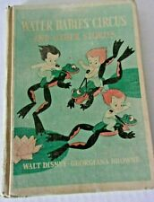 Vintage rare early Disney Water Babies Circus & other Stories book Wwii era 1940