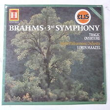vinyl LP BRAHMS - LORIN MAAZEL symphony 3 / tragic overture berlin philharmonic