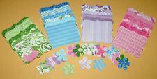 48 Sizzix Stampin Up Top Note & Flower Set DCWV Bouquet De Fleur Cardstock