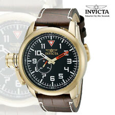 Invicta 20462 Men's Aviator Quartz Stainless Steel and Leather Casual Watch