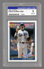 EDDIE MURRAY 1991 Topps 40 Years of Baseball Card #590 L.A. DODGERS Mint 9