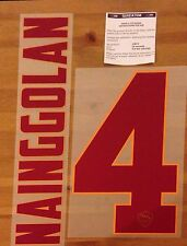 2014-15 como Roma lejos Camisa Nainggolan #4 conjunto de número de nombre oficial stilscreen