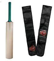 Kashmir Willow Cricket Bat Plain Professional Season Leather Ball Play Nude Bat